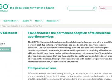 FIGO(国際産婦人科連合)の人工妊娠中絶に関する声明文が翻訳されました!
